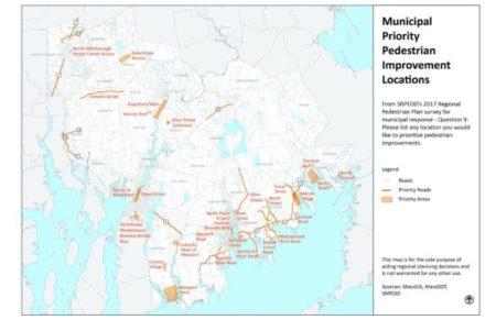 Municipal Regional Pedestrian Plan Map