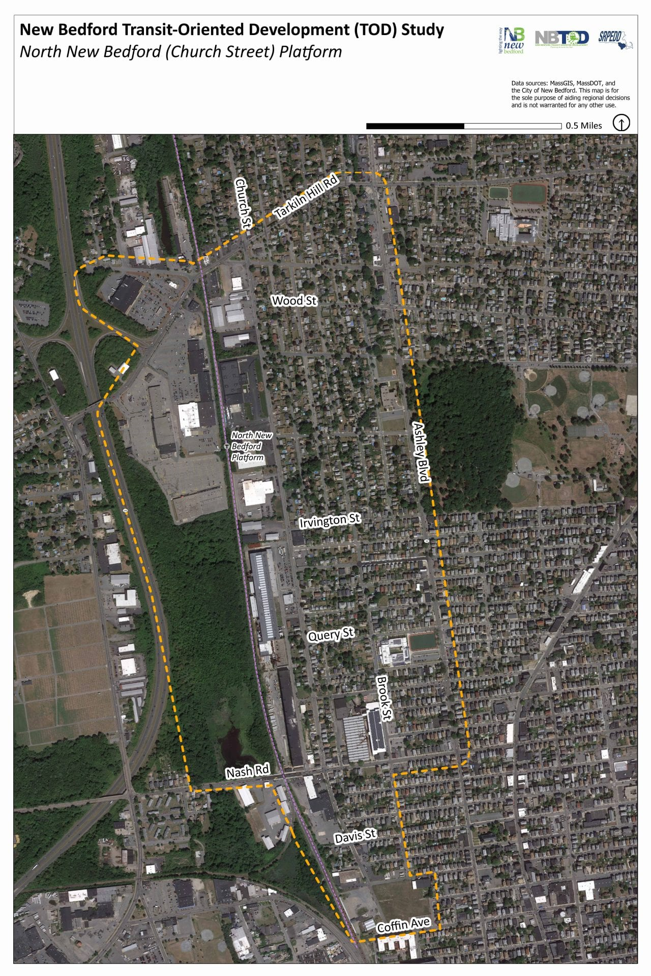 North New Bedford Station Base Ortho Map 011420
