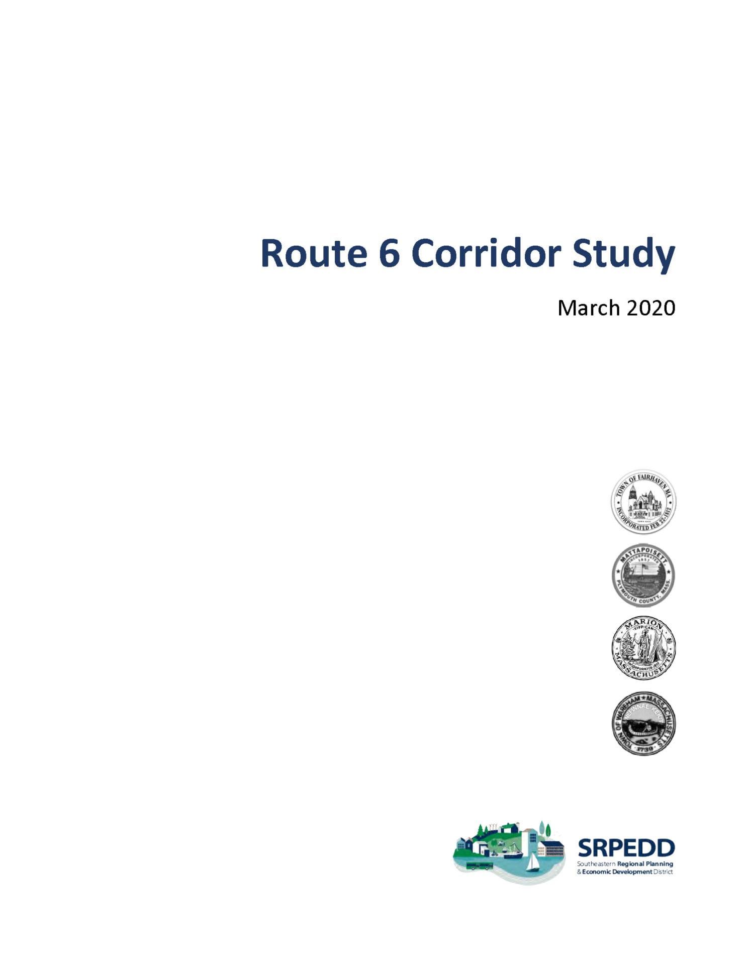Route 6 Corridor Study Report Cover