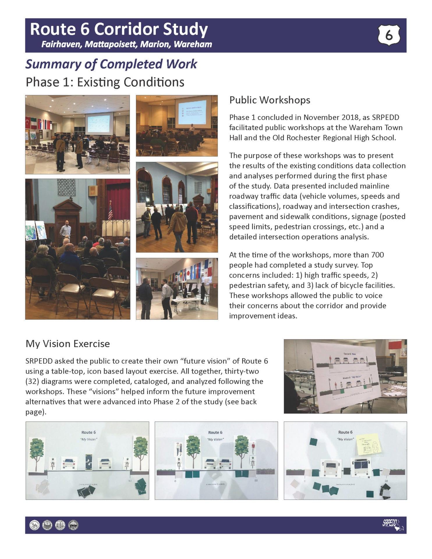 Route 6 Corridor Study Recap Summary