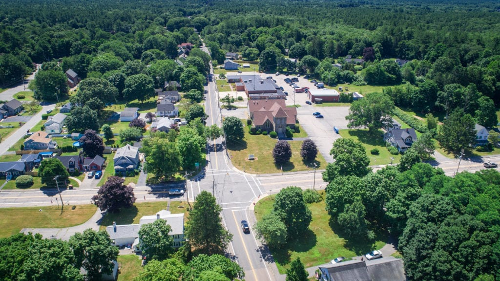 Pleasant Street and Orchard Street Area in Raynham