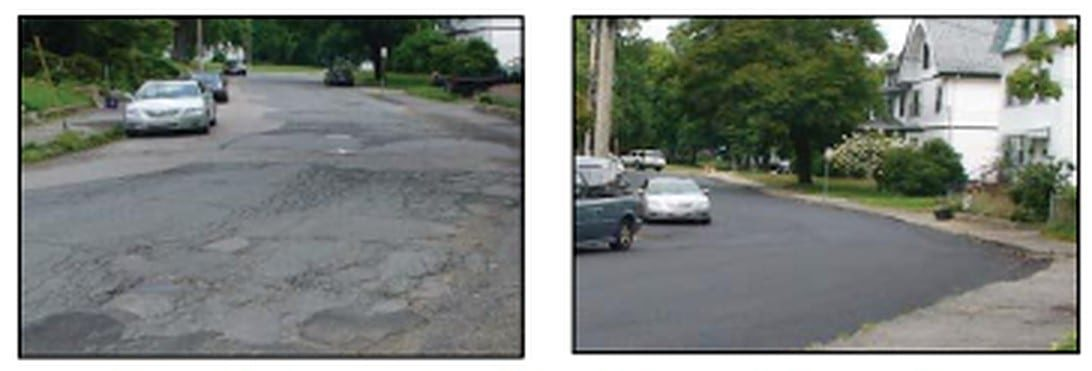 Before and After Pavement Improvements from the 2020 SMMPO report