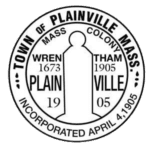 The town seal of Plainville, MA