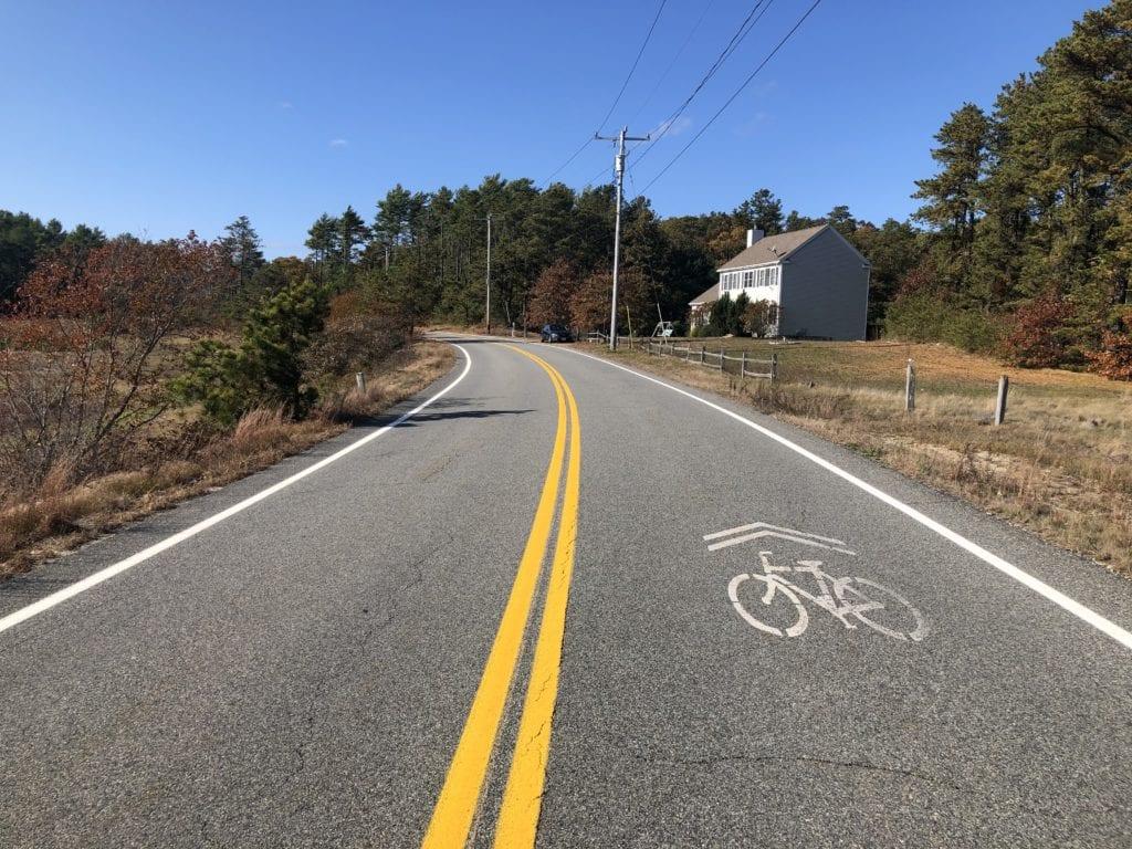 Cranberry Road Carver pavement bike marking
