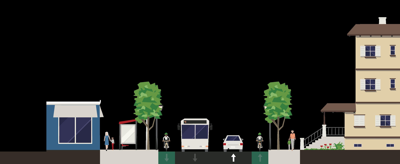 CS Example-60ft-ped,bike,transit