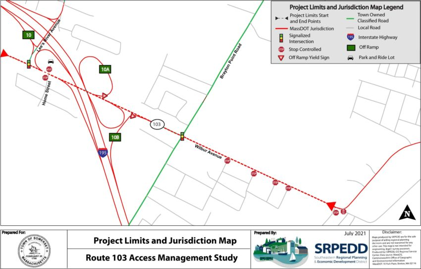 Route 103 Project Limits and Jurisdiction